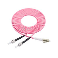 45M LC UPC to ST UPC Duplex OM4 Multimode 3.0mm Fiber Optic Patch Cord Cable