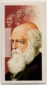Charles Darwin English Naturalist Evolution Theory Science Vintage Trade Ad Card