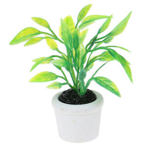 1:12 Dollhouse Miniature Green Plants Decoration Furniture Accessories T ~AU