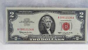 1963 $2 Dollar Red Seal U.S. Note CRISP UNCIRCULATED PC-459