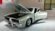1 24 Echelle Dodge Charger Bleu R/t 1969 Maisto Voiture Modélisme 31256