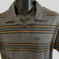 Oakley Polo Golf Shirt Men's Size M Regular Fit Forged Goods Medium Striped