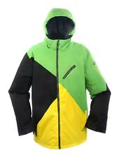 RIDE Mens Snowboard & Ski Jacket : [Black & Yellow vs Fern Green]