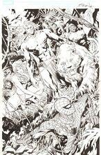 New Avengers #41 p.5 - Spider-Man, Ka-Zar, Shanna & Zabu - 2008 art by Billy Tan Comic Art