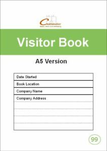 VISITOR BOOK (A5) V099 - Small Sign in Reception Security Log