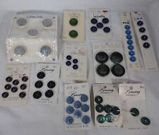 Lot B 11 Collectible Buttons Variety Colors Types On Cards Round Nice Craft Use