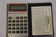 Vintage Casio Electronic Calculator #Lc-402 W/Case & Warranty Paperwork