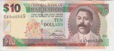 BARBADOS BANKNOTE P. 68c 10 DOLLARS 2.5.2012 SIG. DR. DELISLE WORRELL, UNC