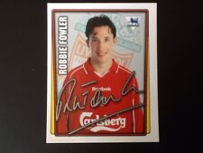 Merlin Football Sticker #285 2001-02  Robbie Fowler Liverpool Mint Condition