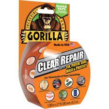 Gorilla® Clear Repair Tape 8.2m Heavy Duty Duct Tape Tent Waterproof Plastics