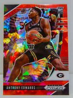 Anthony Edwards RC 2020-21 Red Cracked Ice Prizm Draft Picks Rookie Card #1 MIN