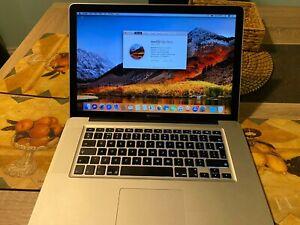 Macbook Pro 15 2011/ i7 2.2 Quad core / 8 GB / 480GB SSD / External HDD add on