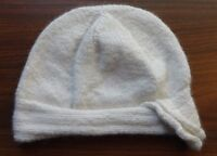 Hand knit Hat Eggshell color