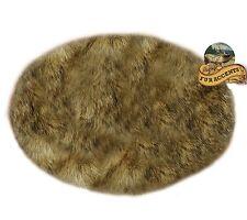 Round Shag Rug Light Alpine Wolf Faux Fur Round Area Rug Light Brown Tones Shag