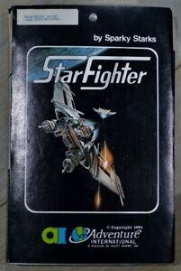STAR FIGHTER for TRS-80 by Adventure International Sparky Starks 1st Release