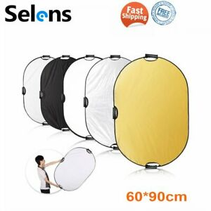 Selens 60x90cm 5in1 Photo Photography Light Reflector Diffuser Collapsible