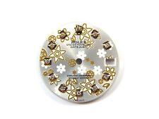 Rolex Midsize Datejust 2Tone Silver Flower custom diamond dial