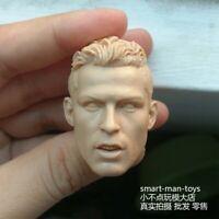 "Free Shipping 1/6 scale Blank Head Sculpt Cristiano Ronaldo unpainted Fit 12"" FG"