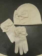 KATE SPADE Dorothy Bow Beanie  Glove Set   Hat   Gloves Ivory Sweet