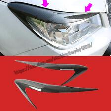 For Subaru Forester 2013-18 Carbon Fiber Eyelid Eyebrows Headlight Molding Trim