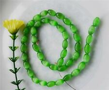 8x12mm Mexican Green Peridot Opal Gemstone Rice Loose Beads##HL109