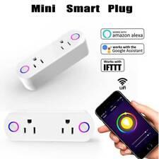 Smart Plug WiFi Socket 2 Outlet Remote Control Switch Timer Alexa Google Life US