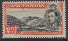 ASCENSION SG41 1938 2d BLACK & RED-ORANGE p13½ MTD MINT