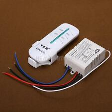 One Way ON/OFF 220V-240V Light Wireless Digital Switch Wall Remote Control New