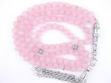 6mm x 99 ROSE QUARTZ ISLAMIC MUSLIM TASBIH MASBAHA QURAN GIFT PRAYER BEADS