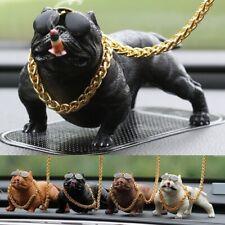 Bully Pitbull Dog Doll Car Dashboard Accessories Resin Statue Home Decor Modern