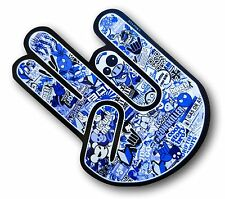 The SHOCKER Hand With BLUE JDM Drift Style Stickerbomb vinyl car sticker decal