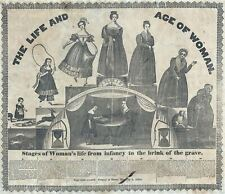 1835 Albert Alden Allegorical Broadside 'Life and Age of Woman'
