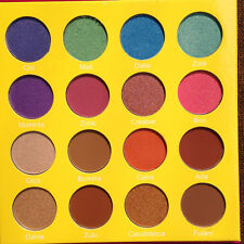 Fashion Cosmetics Shimmer Matte Eyeshadow Red/Yellow/Green Eye Shadow Palette