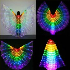 Colorful LED Isis Wings Light Up Dress Wings Performance Girl Costume Decor