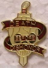 Hat Lapel Push Tie Tac Pin USMC Marine Corps Death Before Dishonor NEW
