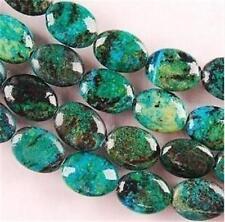 "10x15mm Azurite Chrysocolla Gemstones Oval Loose Beads 15"" V"