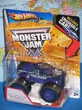 Hot Wheels Monster Jam Re Krunch Crushable Auto Viola Nuovo & Vhtf