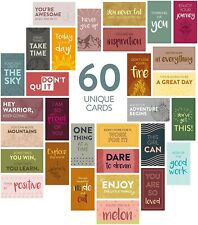CloveDove 60 Pack Assorted Thank You Motivational - Encouragement Cards