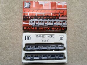 """1960s VINTAGE SCARCE JOUEF RAME INOX """"BUDD"""" BOXED ELECTRIC TOY TRAIN"""
