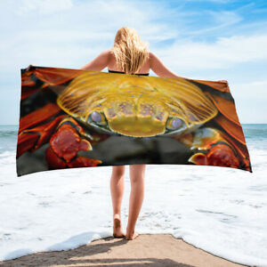 Crab Beach Towel Summer Beach Themed