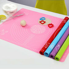 UK  Large Silicone Dough Mat  100%Non-Stick  Pastry Rolling Fondant Dough Cookie
