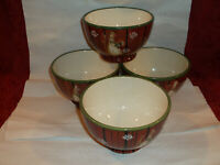 SET OF 4 Noble Excellence SNOW MATES CEREAL, ICE CREAM BOWLS Earthenware..NEW!!