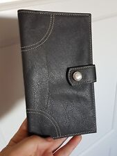 Porte monnaie Portefeuille en cuir gris Longchamp Très Bon état
