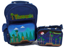 """Terraria 16"""" Large School Roller Backpack Rolling & Lunch Bag Insulated"""