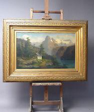 Berglandschaft Oel auf Leinwand  ca. 95 x 125 cm mit Rahmen Signiert