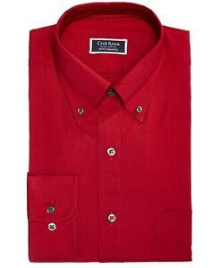 Sale Club Room Mens Dress Shirt Tall Regular Performance Pocket B4HP