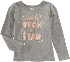 Epic Threads Toddler Girls Tee Shirt NWT Grey Long Sleeve Size 3T KD511
