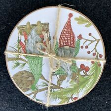 Pottery Barn Forest Gnome Assorted Cork Coasters