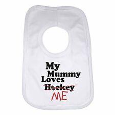 Ma maman m'aime pas hockey-personnalisé bébé bib drôle cadeau vêtements présent