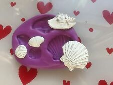 Silicone mould sea shell ( cupcake Topper.shabby chic.Crafts.decorating tools